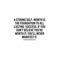 Know that you are good enough. Believe you are worth it. by thinkgrowprosper
