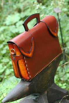The Executive Briefcase by HAUSleather on Etsy