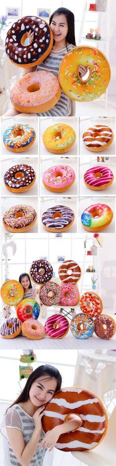 Creative simulation Doughnut plush pillow Bread ring toy soft cushion birthday gift