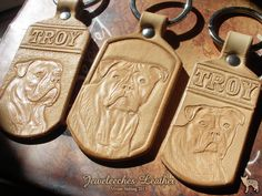 Made these keychains of natural tanned leather, by Jeweleeches Vivian Hebing! Do you want to see more of my work, you can find me on Facebook, Youtube or Etsy too! On Youtube you can see my tutorial video's!