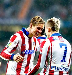 Fernando Torres and Antoine Griezmann - January 2015 Antoine Griezmann, Soccer Players, Motorcycle Jacket, January 15, Queens, Wallpapers, Twitter, Random, Inspiration