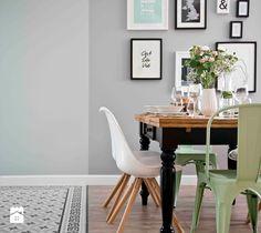 Retro and the minth - Średnia otwarta jadalnia w salonie, styl skandynawski - zdjęcie od SHOKO.design