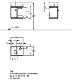Silk Handwaschbecken-Unterschrank - Heim & Bad Floor Plans, Fitness, Kitchen, House, The Visitors, Consoles, Asylum, Round Round, Germany