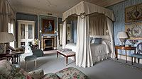THE LADY CAROLINE COOTE ROOM  With its gracefully rococo stucco work ceiling, the Lady Caroline Coote Room (formerly Lady Coote's boudoir) is among the most pleasingly elegant bedrooms at Ballyfin.