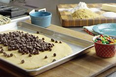 "My brother used to call these ""Spreads"" because you SPREAD the dough out before it bakes, and then you SPREAD chocolate all over the top. I posted it years and years ago here on the blo…"