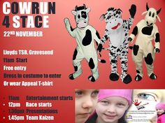 Looking forward to taking part in the pantomime cow race to help  raise awareness for our Stacey Mowle Appeal!