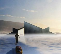 Fantastic Norway's Mountain Hill Cabin is Part Ski Slope, Part Winter Retreat Fantastic Norway Mountain Hill – Inhabitat - Sustainable Design Innovation, Eco Architecture, Green Building Eco Architecture, Architecture Drawings, Amazing Architecture, Contemporary Architecture, Architecture Details, Timber Cabin, Steel Structure Buildings, Study Room Design, Roof Detail