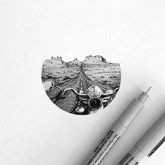 Pointillism pen and ink inspiration