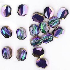 Incredible vintage Palian Swarovski crystal beads; very rare & wonderful! JEWELEX.COM, Largest Site on the Web for Vintage Glass Beads