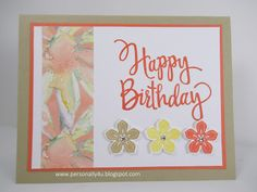 Personally Yours: Colorful and Stylized Birthday Card