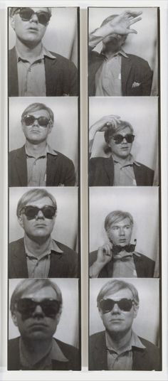 photobooth / the lowest of the lowest but Warhol makes is high again by playing his character Warhol (postmodern confusion)