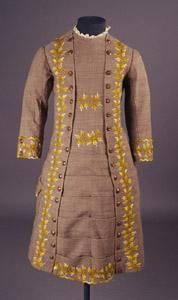 1877 Yellow embroidered dress