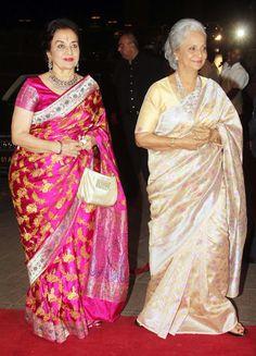 Waheeda Rehman and Asha Parekh arrived together at Arpita Khan's wedding…