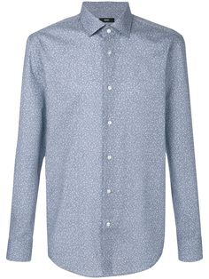 Boss Hugo Boss floral print shirt - Blue