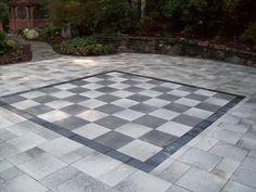 Bluestone Chessboard patio
