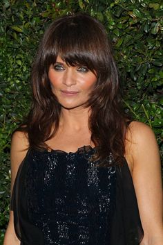 photo you will print & take to hairdresser: & then your trainer; Helena Christensen at Chanel Charles Finch Pre-Oscar Dinner