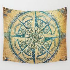 compass rose, illustration, wanderlust, travel art, henna, decorative, mixed media