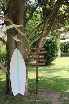 Nice Party comunión surf decoración