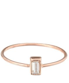 Kismet by Milka Rose Gold Diamond Baguette Ring | Fine Jewellery | Liberty.co.uk