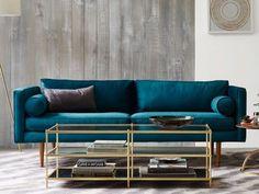 Les 11 meilleures images de canapé velours bleu | Blue couches ...