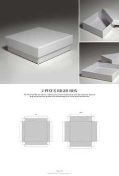 2-Piece Rigid Box - Packaging & Dielines: The Designer's Book of Packaging Dielines