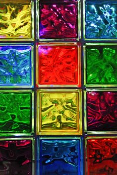 Another reason to love glass blocks! Look at those colors!!!