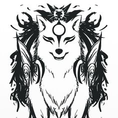 Arm Tattoo, Sleeve Tattoos, Wolf, Nerd Crafts, Amaterasu, Anime, Dog Art, Tattoo Drawings, Art Inspo