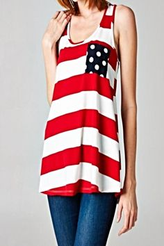 Red Stripe Tank - main