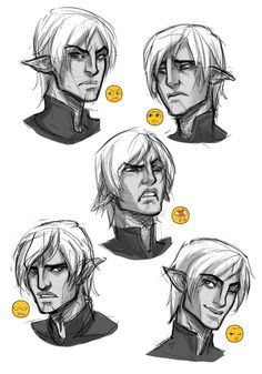 Fenris. Dragon Age II. <3 I love it when people use the elf ears to imply emotion. It is so adorable.
