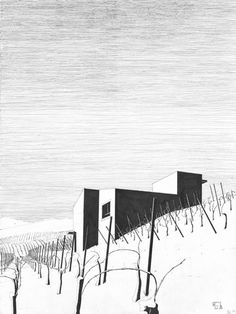 © Denis Andernach - www.denis-andernach.de Architecture Images, Architecture Board, Architecture Graphics, Perspective, Architect Drawing, Hand Reference, Beautiful Drawings, Monochrome, Art Sketches