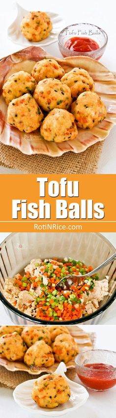 These golden Tofu Fish Balls are excellent served with sweet chili sauce as an appetizer or finger food. Hard to stop at just one.   RotiNRice.com