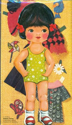 PAPER DOLL larger size (made in West Germany)