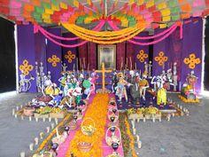 día de muertos - Altar de muertos en la Basílica de Guadalupe - Altar de muertos