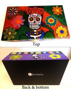 Beautiful Custom Painted Frida Kahlo Dia De Los Muertos Katrina  Jewelry Box Day…
