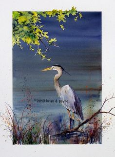 Blue Heron by BrianPayneArt on Etsy