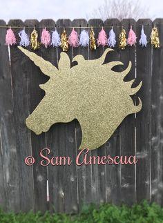 Unicorn party/ Gold Unicorn  Unicorn first birthday/ pastel unicorn  Unicorn photo booth prop