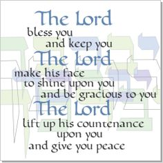 Aaronic blessing to my beautiful family and to all who wish to receive this.