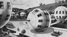What kinds of houses will we build in 100 years? Looking at these illustrations and movies about homes of the future, you realize how much the twentieth century vision of tomorrow differs from the twenty-first century one.