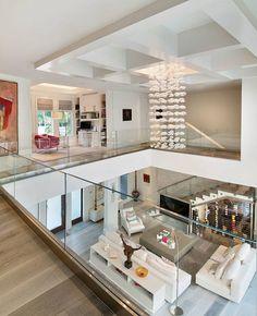 Modern Home Design 94667 Exquisite modern coastal home in Florida with luminous interiors Dream Home Design, Modern House Design, Home Interior Design, Interior Architecture, Interior Modern, Architecture Plan, Coastal Living Rooms, Coastal Homes, Coastal Farmhouse