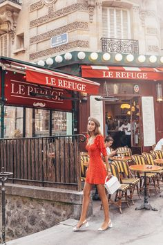 The VivaLuxury Une Petite Robe Rouge in Paris Rouge Paris, Paris Chic, Paris Mode, Paris Outfits, Mode Outfits, Europe Outfits Summer, France Outfits, Paris Dresses, Summer Fashions