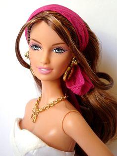"""""""Dooney & Bourke Barbie 2006"""" by shadow-doll (T N)   SKU# J0937 • Mattel's Drew/Lara face mold   20 December 2010"""