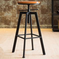 VINTAGE RETRO INDUSTRIAL LOOK RUSTIC SWIVEL KITCHEN BAR STOOL CAFE CHAIR | eBay