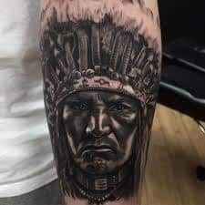 What does indian tattoo mean? We have indian tattoo ideas, designs, symbolism and we explain the meaning behind the tattoo. Native American Tattoos, Tattoo Motive, Tattoo Designs, Tattoo Ideas, Indian Tattoos, 3d, Month Workout, Nice, Native Americans