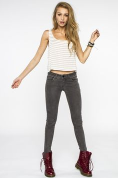 need some gray skinnies. Brandy Melville USA