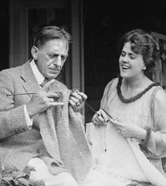 """Comedy duo """"Mr & Mrs Sidney Drew"""" 1917. This was the 2nd """"Mrs. Drew"""" -- """"Lucille McVey was a writer at Vitagraph when she met Drew shortly after his wife's death. They married almost immediately although he was more than twice her age. She scripted and he directed a number of domestic comedies, said to be more subtle and wholesome than those previously filmed."""""""