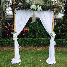 We love our rustic arbour Cloud Nine Weddings #wedding #ceremony #love #cloudnineweddings #style #weddingtrend
