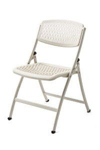 Plastic Folding Chairs Foldable Backrest Steel Durable White 4 Pack Wide NEW Porch Chairs, Outdoor Chairs, Plastic Folding Chairs, Folding Tables, Teal Accent Chair, Accent Chairs, Comfortable Office Chair, Plastic Mesh, Cold Rolled
