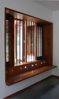 Modern House Interior Designs In Kerala Residence for Jeena and Shiva Home Design, Modern House Design, Home Interior Design, Indian Home Interior, Indian Home Decor, Kerala House Design, Kerala Houses, Wooden Windows, Wooden Window Design