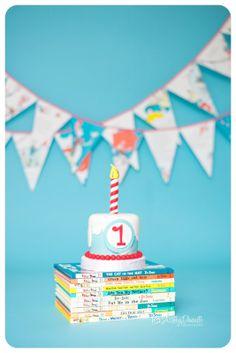 Dr. Seuss cake, Dr. Seuss theme cake smash, Sam-I-Am cake smash, one year cake smash photo, Dr. Seuss theme birthday, Ashley Danielle Photography | Seattle Baby Photographer