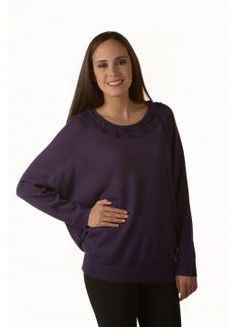 Beautiful light sweater with braided detail around the neck. Purple, a perfect color to create an elegant fall look. 100% Baby Alpaca #AlpacaSweaters #Alpaca #Sweaters #Fashion #Clothing